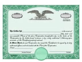Corporation Stock Certificate Template by Stock Certificates Llc Certificates Certificates