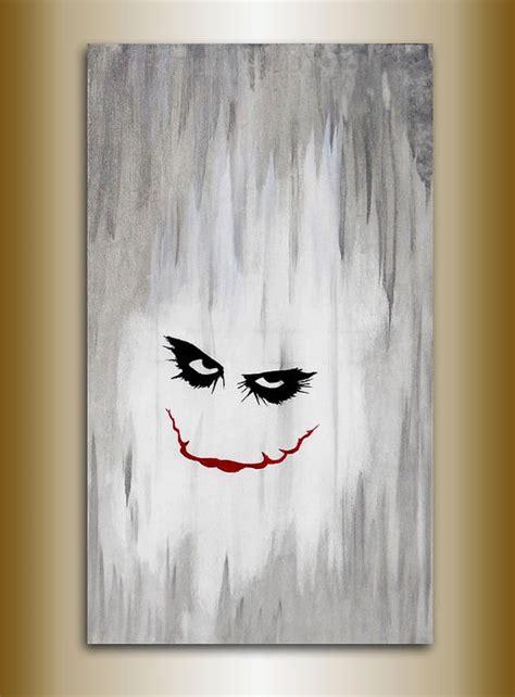 acrylic painting of joker joker painting original acrylic on canvas 70 x 40 batman