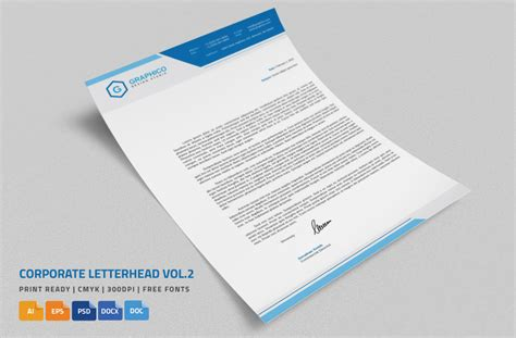 Business Letter Template Psd 20 Professional Company Letter Templates Graphic Cloud