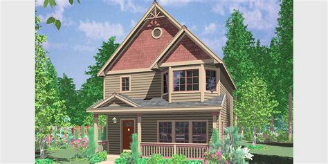 narrow house cottage house plans narrow lots