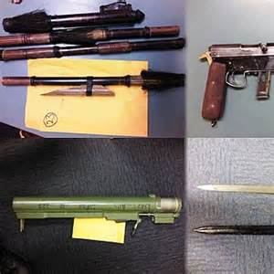 wilsons holden wollongong rocket launcher guns knives and drugs found during