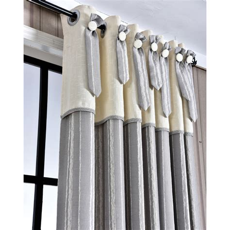 Vertical Striped Curtains Gray Vertical Striped Jacquard Linen Modern Curtains