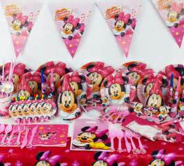decoration minnie anniversaire 78pcs minnie mouse baby birthday decorations