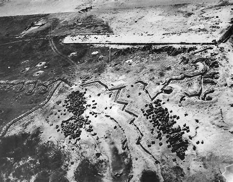 the zig zag pattern of trenches on the front lines was designed to aerial view zig zag japanese trenches on engebi island