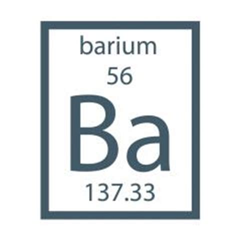 Ba On The Periodic Table by Elemental Barium