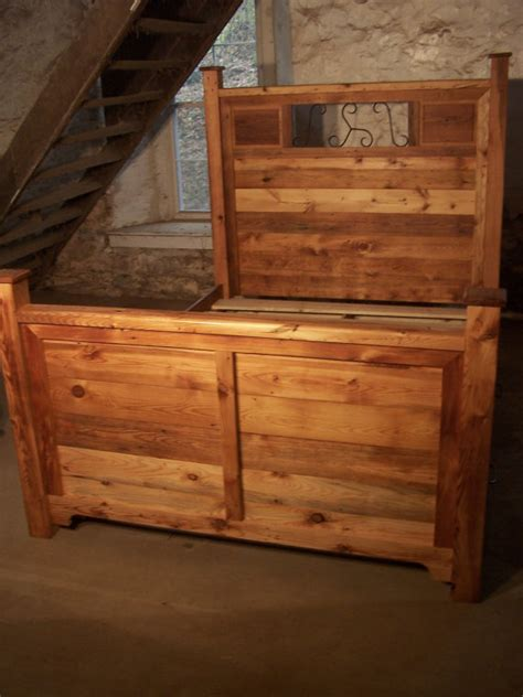 reclaimed wood storage bed craftsman style platform storage bed from reclaimed wood and
