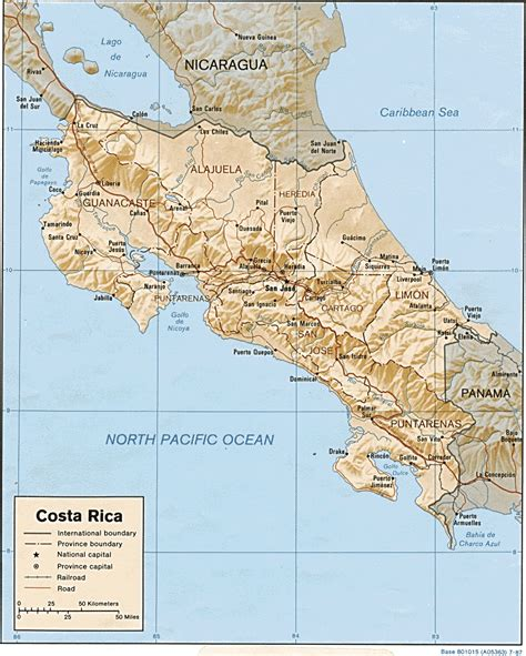 in costa rica costa rica maps perry casta 241 eda map collection ut