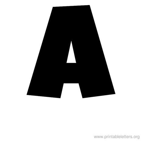 large printable letters for free printable letter large a alphabet pinterest