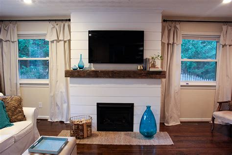 shiplap next to fireplace home update shiplap fireplace tilley s threads