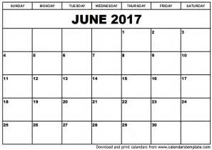 Calnedar Template by Free June 2017 Calendar With Us Holidays Printable