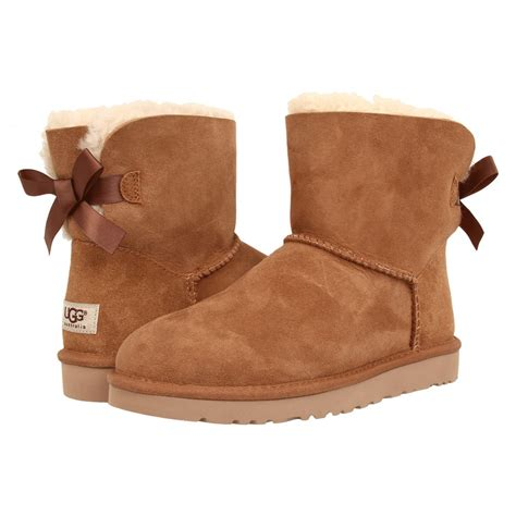 ugg boots bow ugg mini bailey bow chestnut aversa shoes s r l