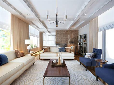 elegant transitional  living room design