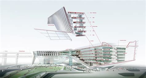 sectional perspective gallery of international competition winner of government