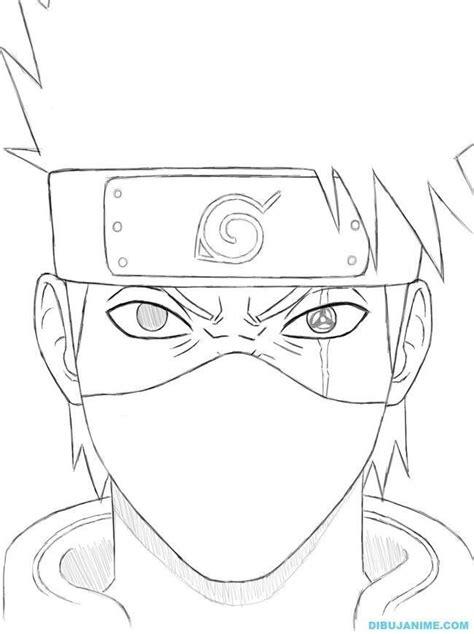 drawing kakashi sketsa menggambar mata animasi
