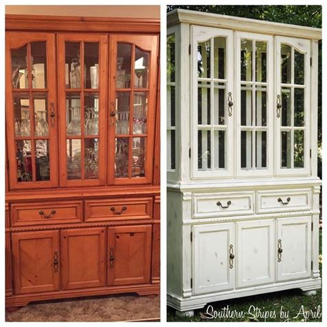 painted china cabinet before and after before after china cabinet transformation with