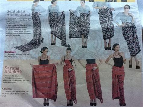 tutorial pakai kain batik modern cara memakai kain batik hairstylegalleries com