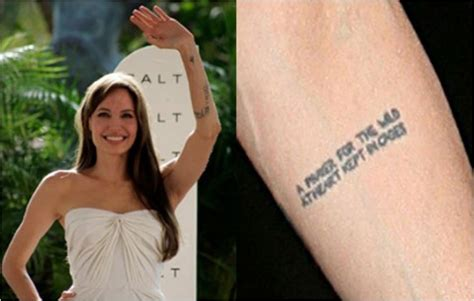 angelina jolie geography tattoo the deep meaning behind 12 of angelina jolie s ink ritely