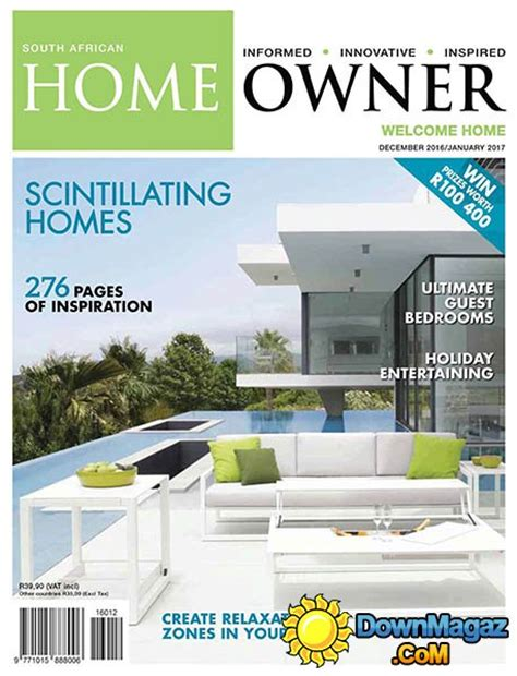 home decor magazines south africa home review south african home owner 12 2016 01 2017 187 download