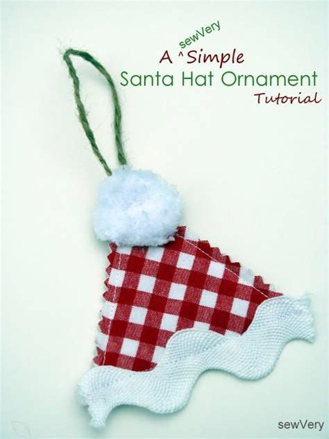 free sewing pattern christmas santa hat ornament