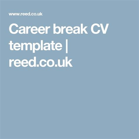 cv template reed co uk 19 best images about career on pinterest manchester