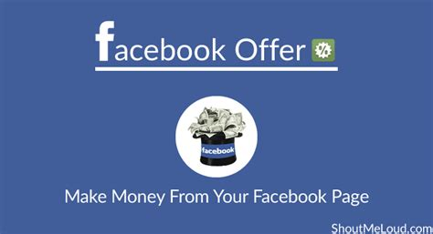 Make Money Online With Facebook Free - facebook offer smart way to make money from your facebook page