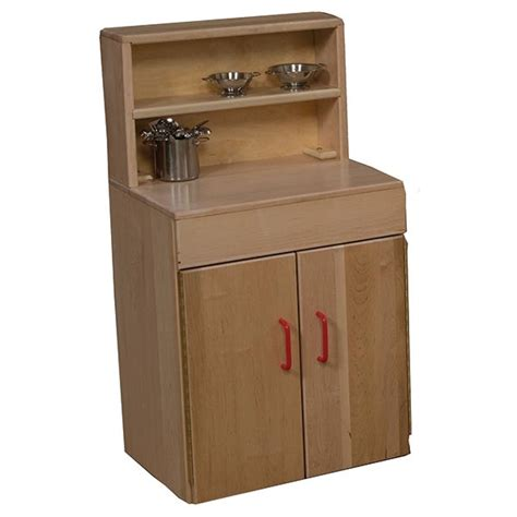 wood designs play kitchen wood designs wd20720 maple play kitchen hutch schoolsin