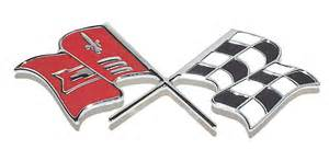 bel air nomad impala chevy trunk crossed flags emblem