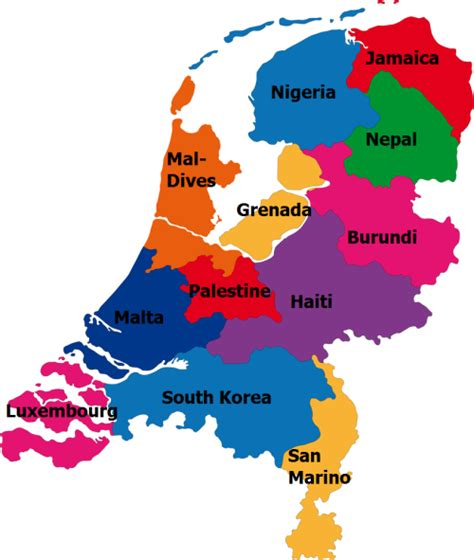 netherlands density map provinces compared to countries of similar maps