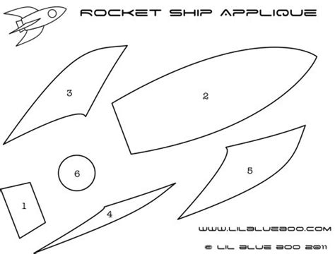 Rocket Ship Applique Tutorial And Template Lil Blue Boo School Ideas Pinterest 3d Rocket Template Printable