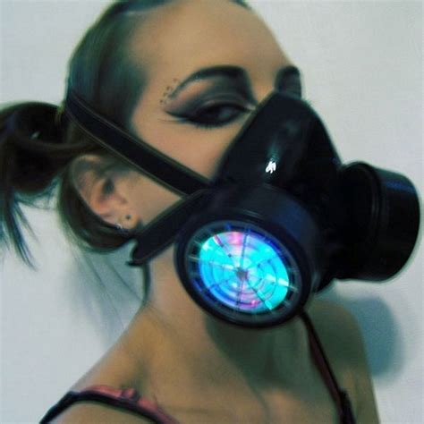 Red Kitchen Canister by Led Respirator Gas Mask Bad Odor Protection For Clubbers