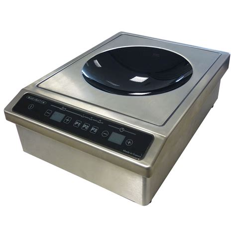 kitchen equipment induction cooktop equipex bwic 3600 drop in commercial induction wok unit 208 240v 1ph