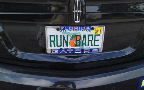 license plate light law florida that fancy license plate frame can get you in trouble with