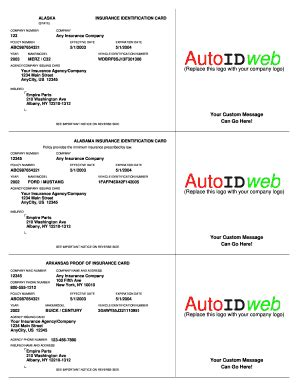 acord auto card insurance template pdf number cards templates forms fillable printable