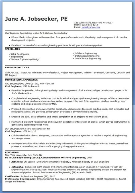 Resume Of Project Manager Civil Templates Resume And Engineering On