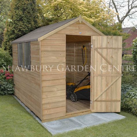Metal Garden Shed With Base by Forest Garden 8 X 6 Shed Base With Metal Ground Anchor Spikes