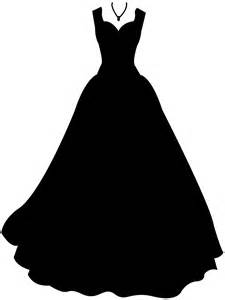Wedding gowns vector silhouettes and oultine