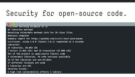 sourceclears  tool open finds vulnerabilities   open source code