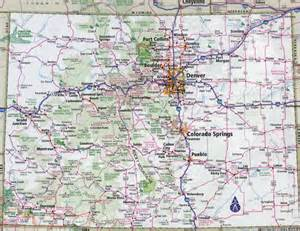 colorado map large detailed roads and highways map of colorado state