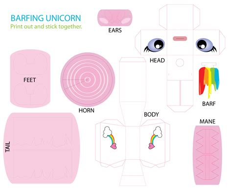 printable unicorn crafts image detail for printable unicorn paper toy cut out