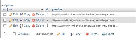 cara membuat web dengan script php cara membuat images slider dinamis dengan php dan mysql