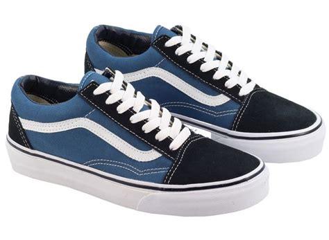 Jual Vans Skool Navy Blue vans trainers womens skool navy blue canvas landau store