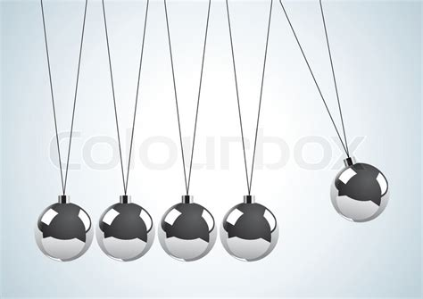 swinging metal balls illustration of a pendulum with metal balls stock vector
