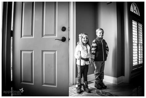 Family Door by Dramatic Black And White Of Siblings Posing By