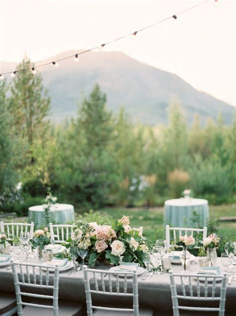 Intimate Glacier National Park Wedding   Wedding Tables