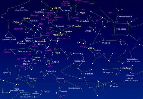 constellations map huntington winter constellations