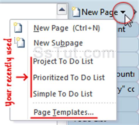 onenote to do list template create to do lists in onenote 2010 2007