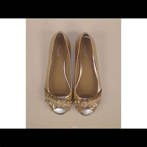 gold flat peep toe shoes 51 wanted shoes brand new wanted gold ruffle peep