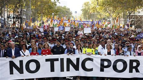 cabecera manifestacion barcelona las im 225 genes de la manifestaci 243 n de barcelona contra el