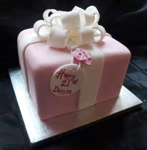 pink gift wrapped birthday cake wedding amp birthday cakes