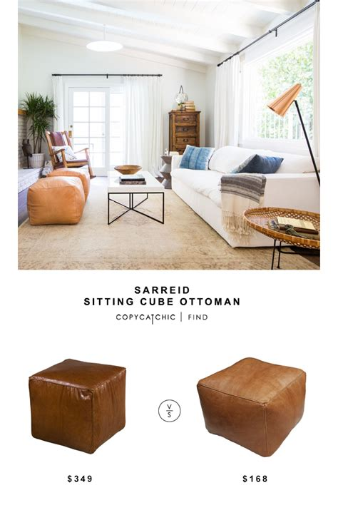 Sitting Chair With Ottoman by Sarreid Sitting Cube Ottoman Copy Cat Chic